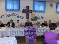 Neepawa and Minnedosa parishes - March 2015:  Dinner at Holy Ascension Parish Hall in Minnedosa in honor of the children who received First Solemn Holy Communion.