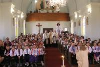 Students in the English-Ukrainian Bilingual Program at Happy Thoughts School and East Selkirk Middle School, at BVM Ukrainian Catholic Church, East Selkirk MB on Wednesday, 13 April 2016.