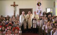 East Selkirk MB, Wednesday, 13 April 2016. Metropolitan Lawrence Blessed Easter Baskets together  with Rev. Peter Chorney and Rev. Isidore Dziadyk OSBM.